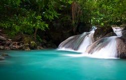 Waterval, het Nationale Park van Erawan Stock Foto