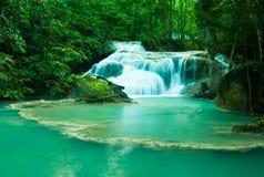Waterval in het Nationale Park van Erawan Royalty-vrije Stock Fotografie