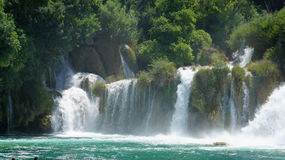 Waterval in het Nationale Park van Kroatië in KRKA Stock Afbeelding