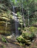 Waterval in Hocking Heuvels Ohio royalty-vrije stock afbeeldingen