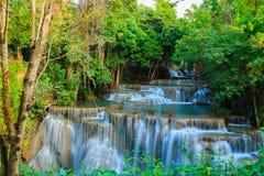 Waterval Huay Mae Kamin Stock Foto's