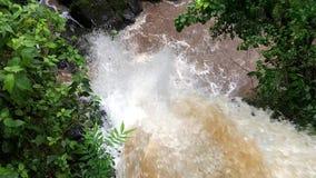 Waterval in Iguazu-Dalingenmening van hierboven stock footage