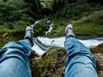 Waterval ijsland Stock Afbeelding
