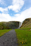 Waterval in IJsland Stock Foto's