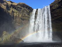 Waterval in IJsland Royalty-vrije Stock Afbeelding