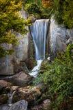 Waterval in Japanse tuin Stock Fotografie