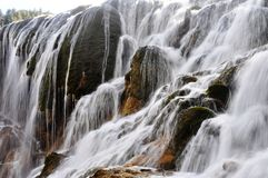 Waterval in jiuzhaigou China Royalty-vrije Stock Foto