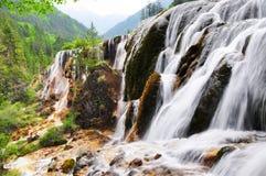 Waterval in Jiuzhaigou, Sichuan, China Stock Foto's