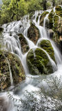 Waterval in Jiuzhaigou, Sichuan, China royalty-vrije stock afbeelding