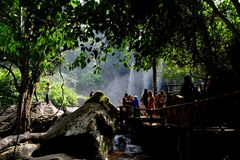 Waterval, Kambodja Stock Afbeelding