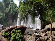 Waterval in Kambodja Stock Afbeeldingen