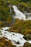 Waterval Kleivafossen in bergen van Noorwegen Stock Foto