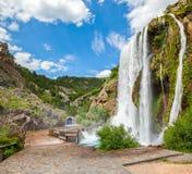 Waterval Krcic in Knin royalty-vrije stock afbeelding