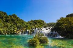 Waterval Krka in Kroatië Stock Afbeeldingen