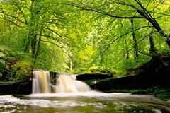 Waterval in Lancashire stock foto