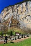 Waterval in Lauterbrunnen-Vallei, Zwitserland, Europa Royalty-vrije Stock Afbeeldingen