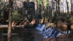 Waterval in Lullwater-Park, Atlanta, de V.S. stock video