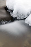 Waterval met ice.jpg Royalty-vrije Stock Foto