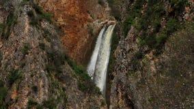 Waterval met twee stromen stock video