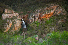 Waterval in Morialta-Behoudspark in Adelaide, Australië Stock Foto's