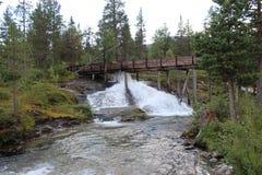 Waterval in Noorwegen Royalty-vrije Stock Fotografie