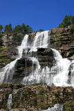 Waterval in Noorwegen royalty-vrije stock afbeelding