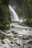 Waterval in Oostenrijk Stock Afbeeldingen