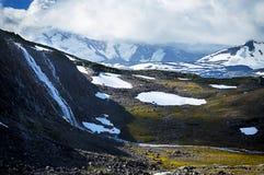 Waterval op de Berg Stock Afbeelding