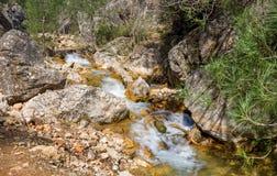 Waterval op de Guazalamanco-Rivier Royalty-vrije Stock Foto