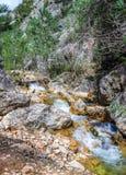 Waterval op de Guazalamanco-Rivier Stock Foto's