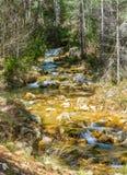 Waterval op de Guazalamanco-Rivier Stock Afbeeldingen