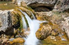 Waterval op de Guazalamanco-Rivier Stock Foto