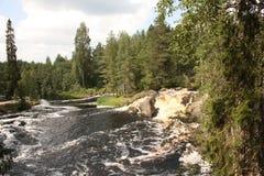 Waterval op de rivier royalty-vrije stock afbeeldingen