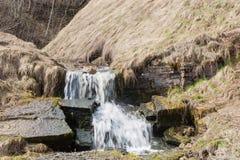 Waterval op de rivier stock foto
