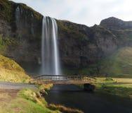 Waterval op eiland Stock Fotografie