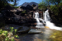 Waterval op het eiland van Arran Schotland Royalty-vrije Stock Foto's