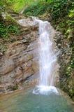 Waterval op het koninkrijk van recreatieve faciliteitenberendeevo Sotchi Stock Fotografie
