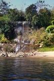 Waterval op Kwai-rivier Stock Afbeeldingen