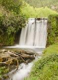 Waterval op rivier Royalty-vrije Stock Foto's
