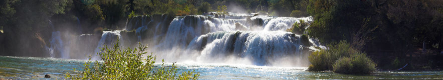 Waterval-panorama royalty-vrije stock foto's