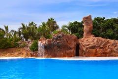 Waterval in park bij de Kanarie van Tenerife Royalty-vrije Stock Afbeelding