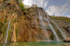 Waterval in Plitvice Stock Foto