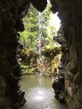 Waterval in Royal Palace in Sintra-Stad Royalty-vrije Stock Afbeelding