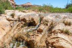 Waterval in Sahara Desert royalty-vrije stock afbeeldingen