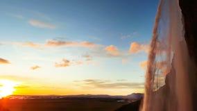 Waterval Skogafoss in IJsland stock footage