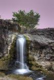 Waterval, Stenen en de Hemel Stock Afbeeldingen