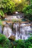 Waterval in Thailand, genoemd khamin van Huay of van Huai mae in Kanchan royalty-vrije stock foto's