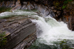 Waterval in Valle Verzasca stock fotografie