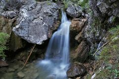 Waterval van de geboorte van de rivier van Guadalquivir royalty-vrije stock foto's