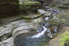 Waterval, Watkins Glen State Park, New York, Nr Stock Afbeelding